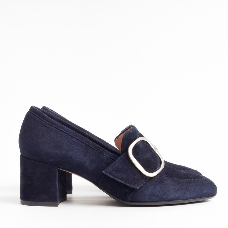 ANNA F. - Loafer with buckle - 1192 - Blue Suede Shoes Woman Anna F.