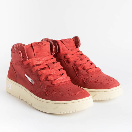 AUTRY AUMW NN10 - MID WOM NABUK - Red Women's Shoes AUTRY - Women's collection