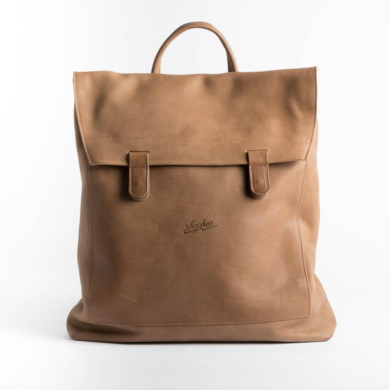 SACHET - Backpack 199 - Leather Backpack SACHET CUOIO