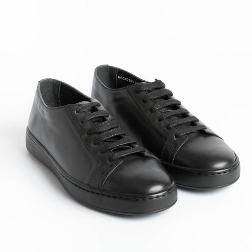 SANTONI CLEANICON - Sneakers - G62 - Black Calfskin Santoni Men's Shoes - Men's Collection