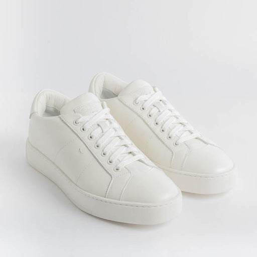 SANTONI Gloria - Sneakers - 20850 - White Santoni Men's Shoes - Men's Collection