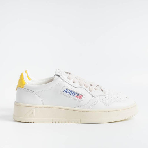 AUTRY LL13 - LOW WOM ALL LEAT - White / Yellow Women's Shoes AUTRY - Women's collection