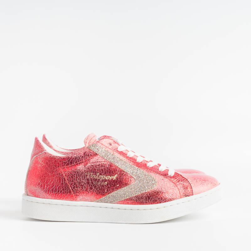 VALSPORT - Tournament Sneakers - Crack Red Glittery Bordeau VALSPORT 1920 Women's Shoes