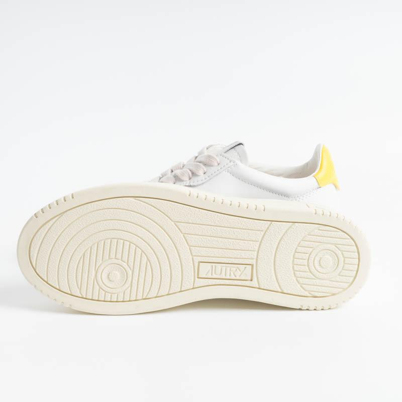 AUTRY LL13 - LOW WOM ALL LEAT - Bianco/Giallo Scarpe Donna AUTRY - Collezione donna