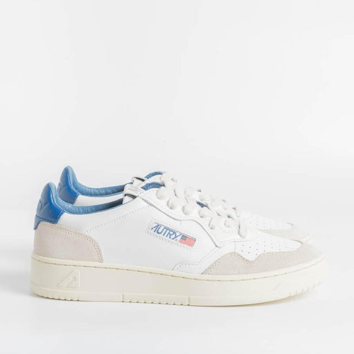 AUTRY LS39 - LOW MAN ALL LEAT / SUEDE - WHITE / BLUE Men's Shoes AUTRY - Men's collection