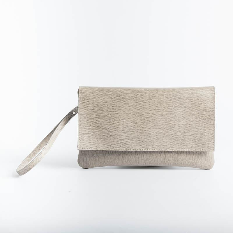 SACHET - Clutch bag - 436 - Various Colors Bags SACHET Saffiano Gray