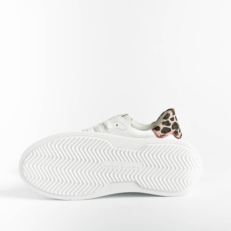PHILIPPE MODEL - BTLD VL01 - Temple - White / Leo Women's Shoes Philippe Model Paris