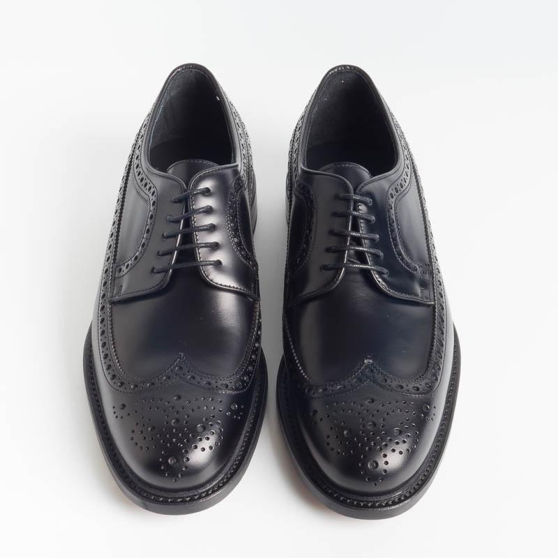 BERWICK 1707 - 3681 - Oxford Duilio - Black Men's Shoes Berwick 1707