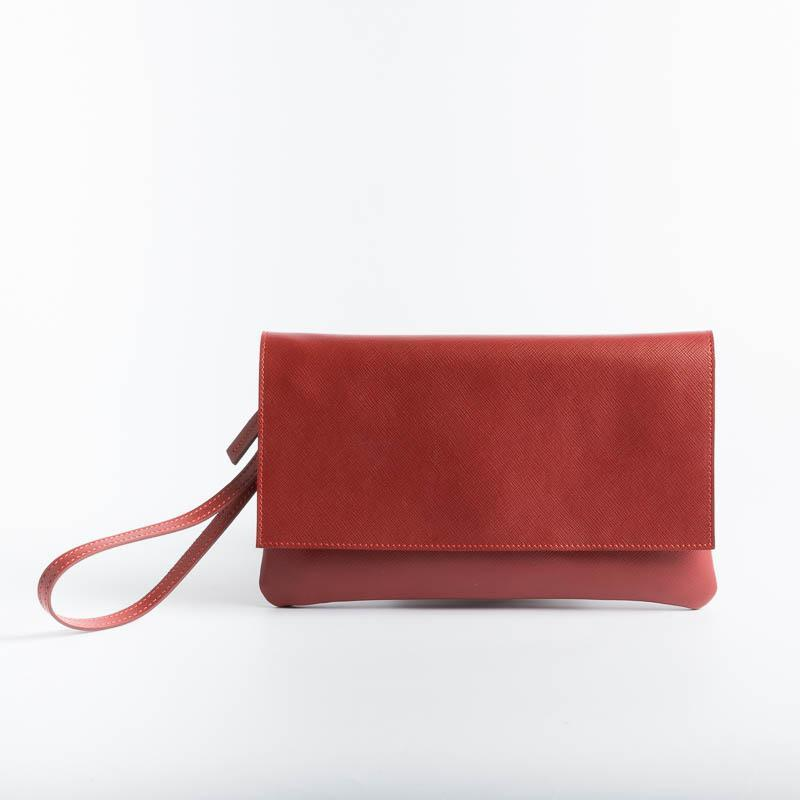 SACHET - Clutch bag - 436 - Various Colors Bags SACHET Saffiano red