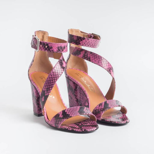 VIA ROMA 15 - Sandal - 3283 - Python - Antique Pink Women's Shoes Via Roma 15