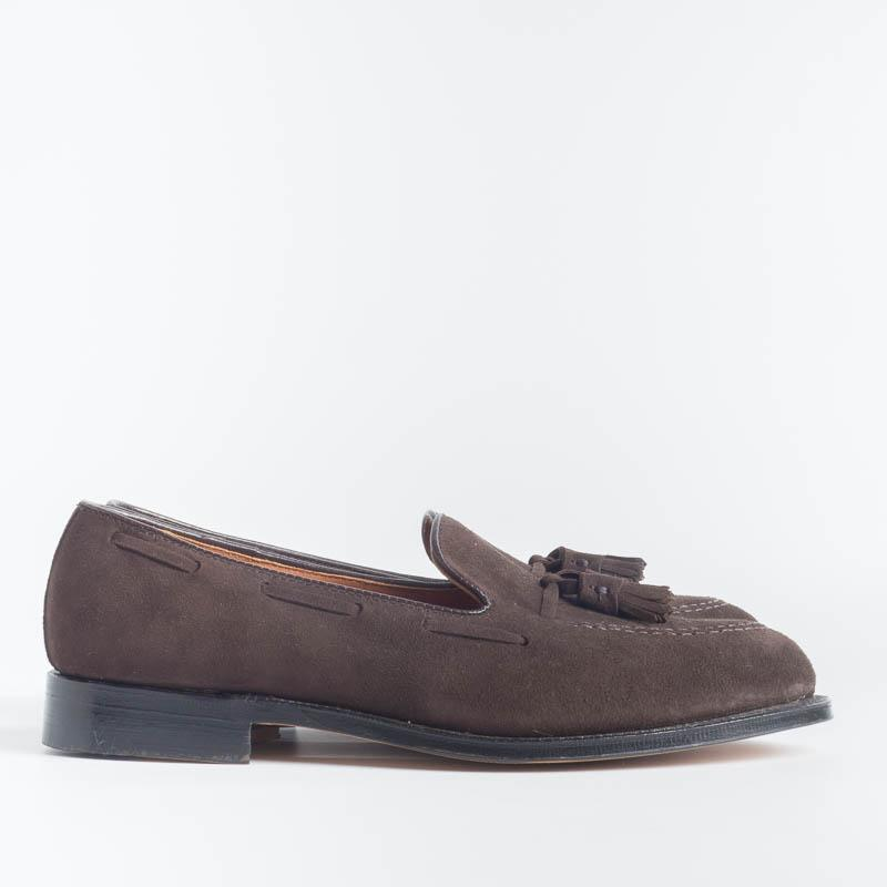 ALDEN - 666 - Loafer -Tassel Loafer - Dark brown suede - Call to buy Alden Men's Shoes