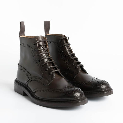 TRICKER'S - Brogue Boot - Stow Espresso Tricker's Men's Shoes