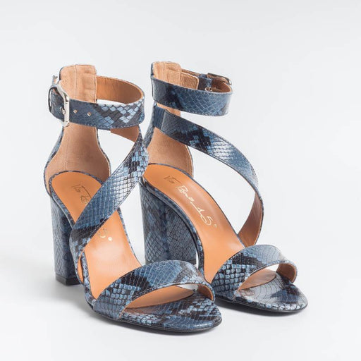 VIA ROMA 15 - Sandal - 3283 - Python - Jeans Women's Shoes Via Roma 15