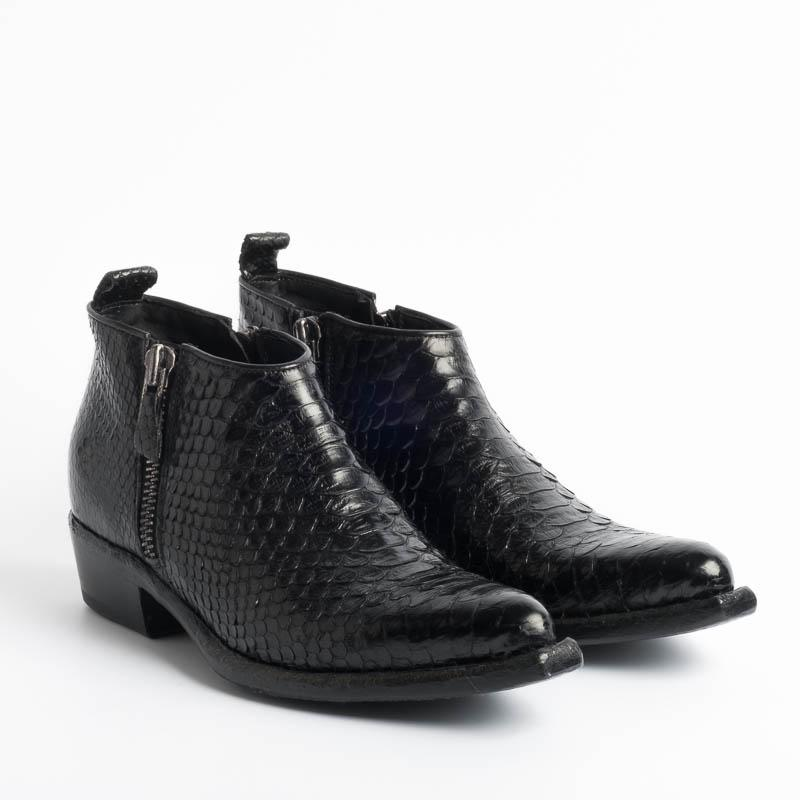 DAMY - Continuativo - DUBLE - Black Python Shoes Woman DAMY