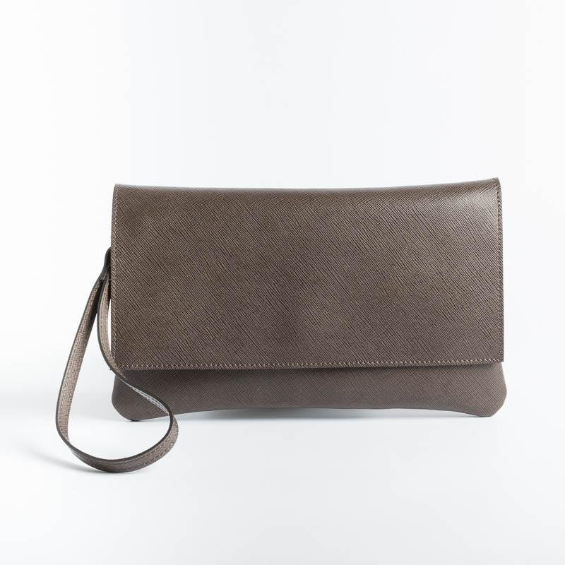 SACHET - Pochette - 436 - Various Colors Bags SACHET Saffiano Brown