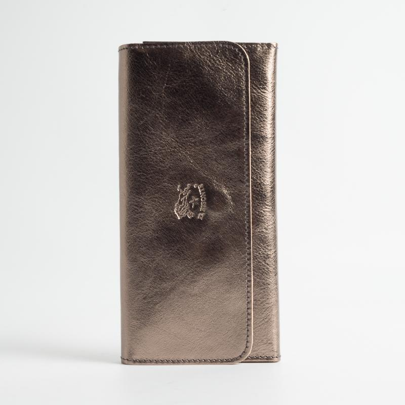 IL BISONTE - Continuativo - C0775 - Women's Wallet - Continental - Bronze Women's Accessories Il Bisonte