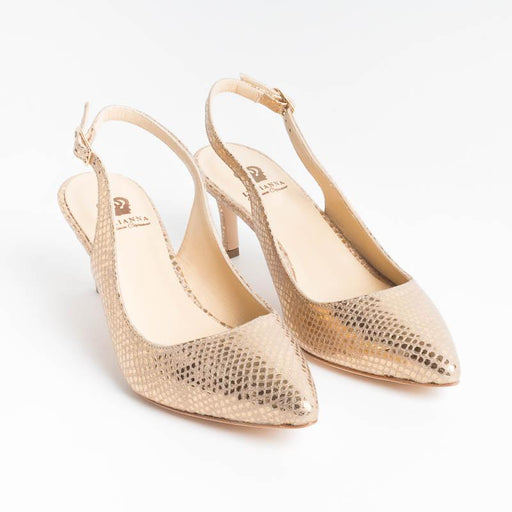 L'ARIANNA - Chanel CH2025 - Snake Gold Lamin Woman Shoes L'Arianna