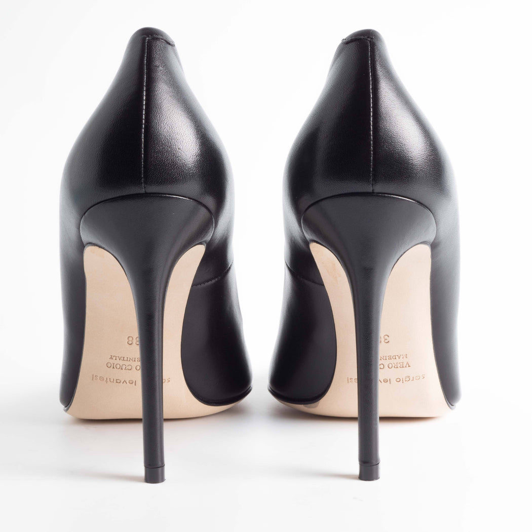 SERGIO LEVANTESI - FW 2018/19 - Miss - Black Nappa Leather Shoes SERGIO LEVANTESI