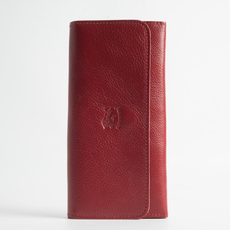 IL BISONTE - Continuativo - C0775 - Women's Wallet - Continental - Red Women's Accessories Il Bisonte