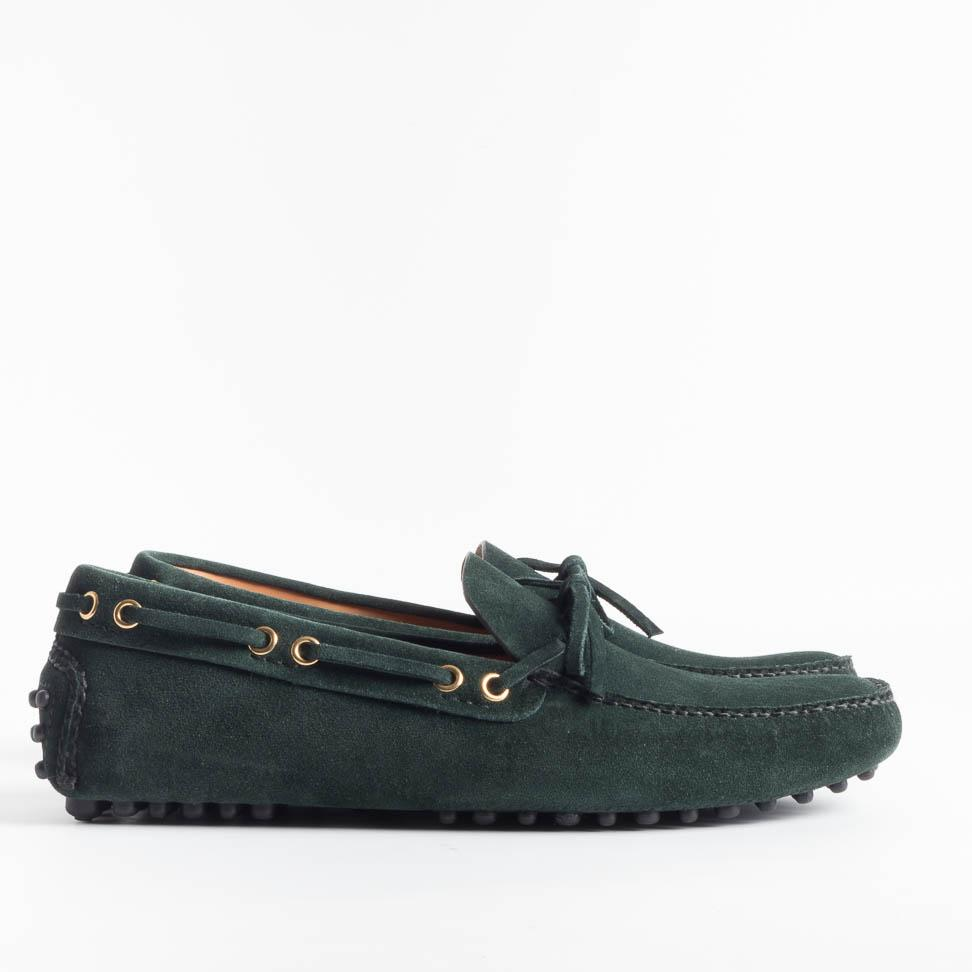 CAR SHOE - SS 2019 - KUD 006 - Suede 8 - Bottle Green Men's Shoes CAR SHOE - Men's Collection