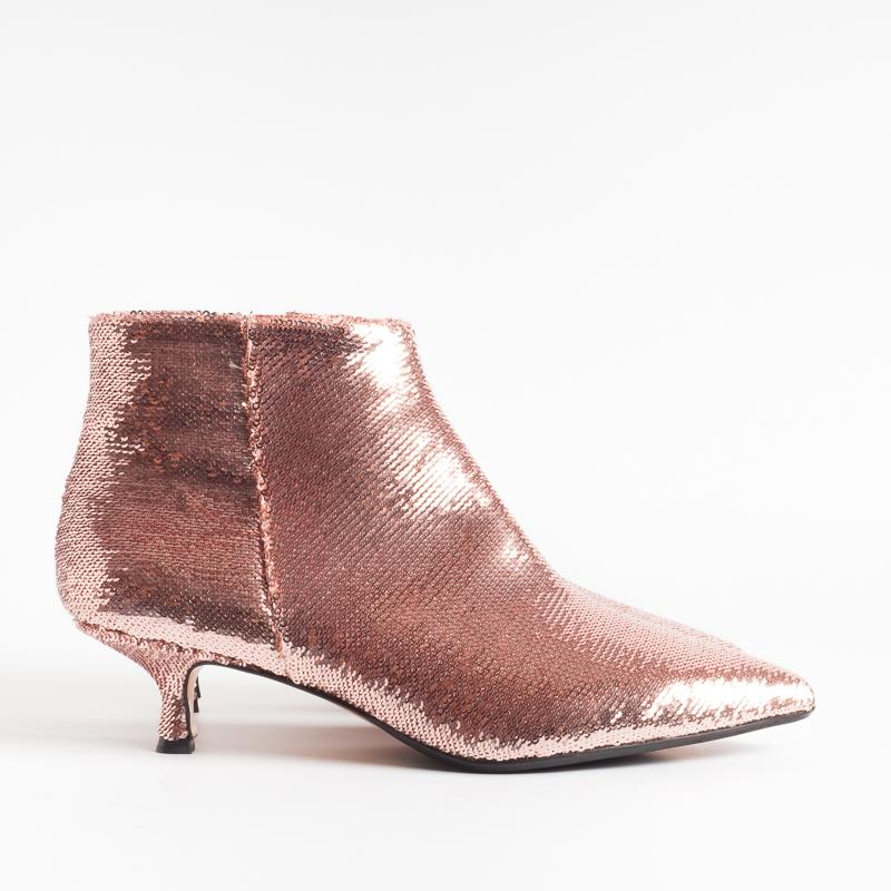 ANNA F. - Ankle Boots - 9397 - Pink Sequins Women's Shoes Anna F.