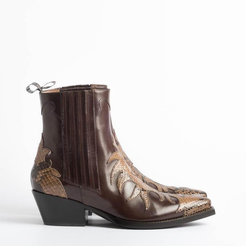 SARTORE - Texan - SR3653P - Python T. Brown SARTORE Women's Shoes