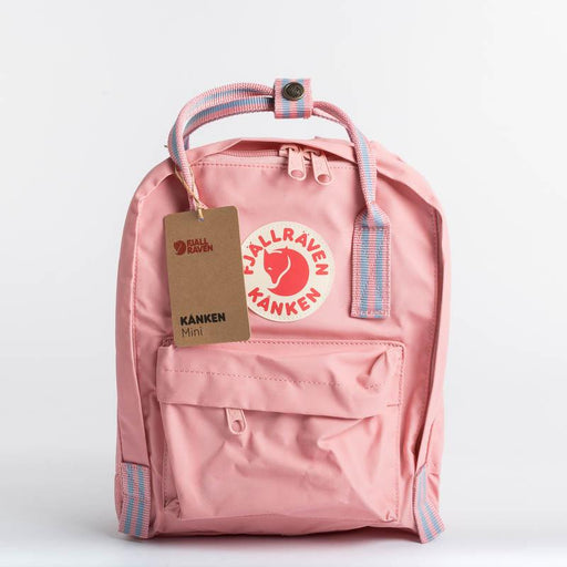 FJÄLLRÄVEN Kånken Mini 312-909 Pink Long Stripes Backpack Fjallraven