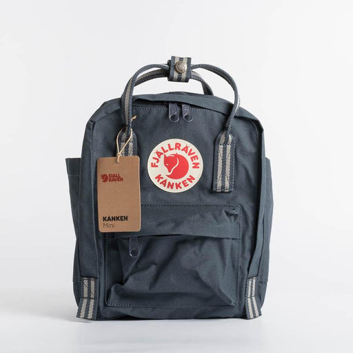 FJÄLLRÄVEN Kånken Mini 560-909 Navy Long Stripes Backpack Fjallraven