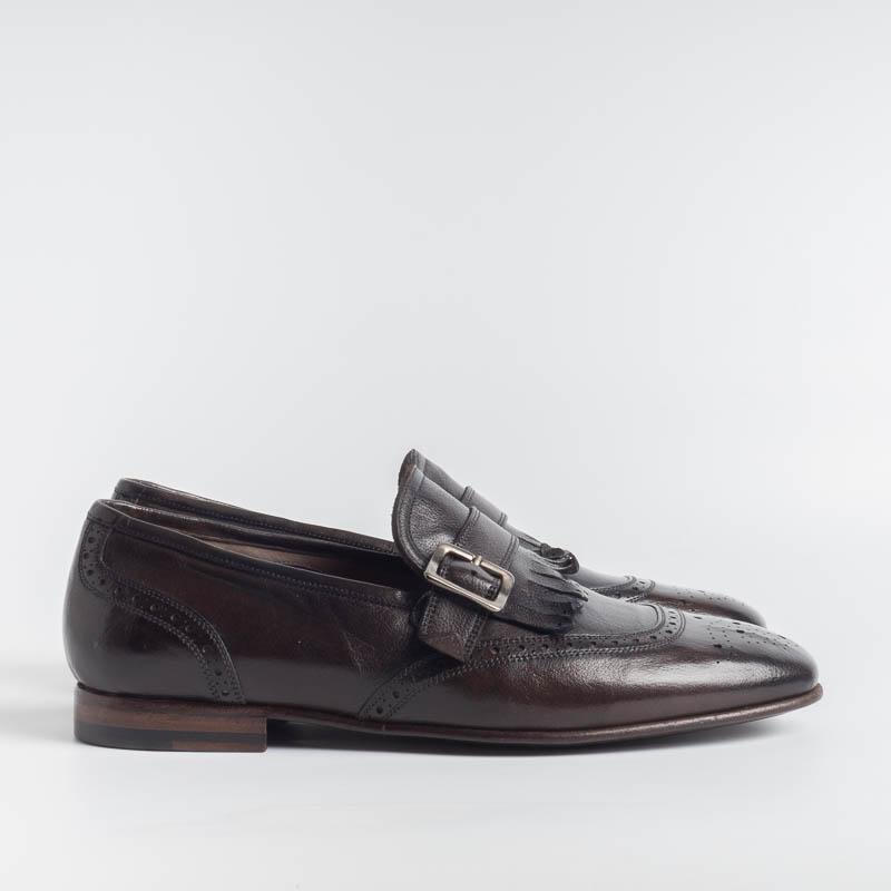 STURLINI - AR1500 - Double buckle - Buffalo Chocolat Men's Shoes STURLINI - Men's Collection