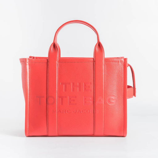 MARC JACOBS - H004L01PF21 - The Leather Small Tote Bag - True Red Bags Marc Jacobs