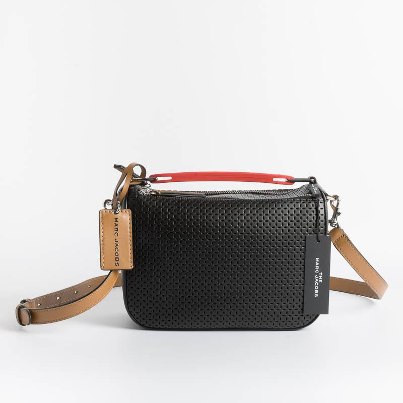 MARC JACOBS - H107L01PF21- The Soft Box Bag - Perforated - Black Bags Marc Jacobs