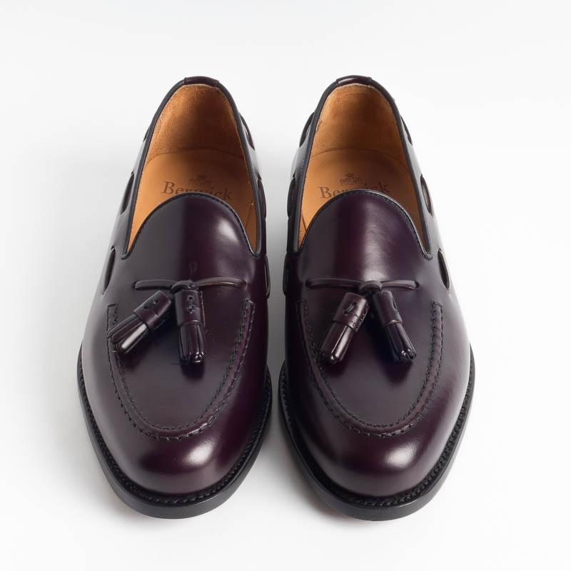 BERWICK 1707 - Tassel Loafer - 8491 - Bordeaux Berwick 1707 Men's Shoes