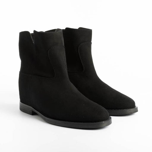 VIA ROMA 15 - Ankle Boot 1626 - Black Suede Women's Shoes Via Roma 15