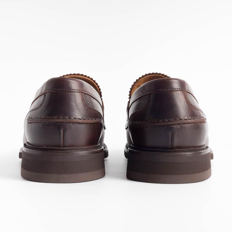 BERWICK 1707 - Loafer - 11053 - Brown Leather Polo Shoes Man Berwick 1707