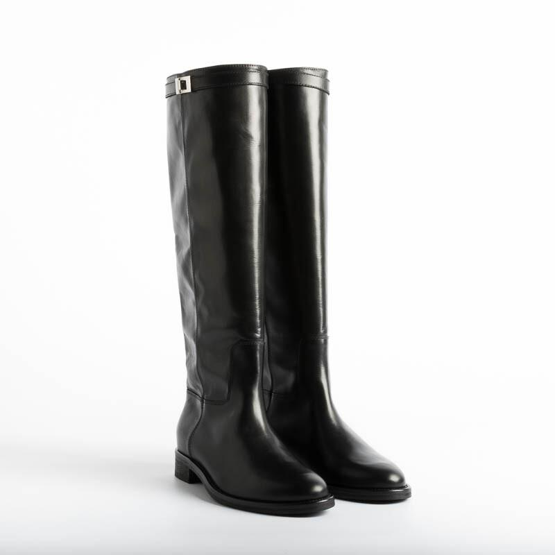 VIA ROMA 15 - Boot 3486 - Saint Barth Black Women's Shoes Via Roma 15