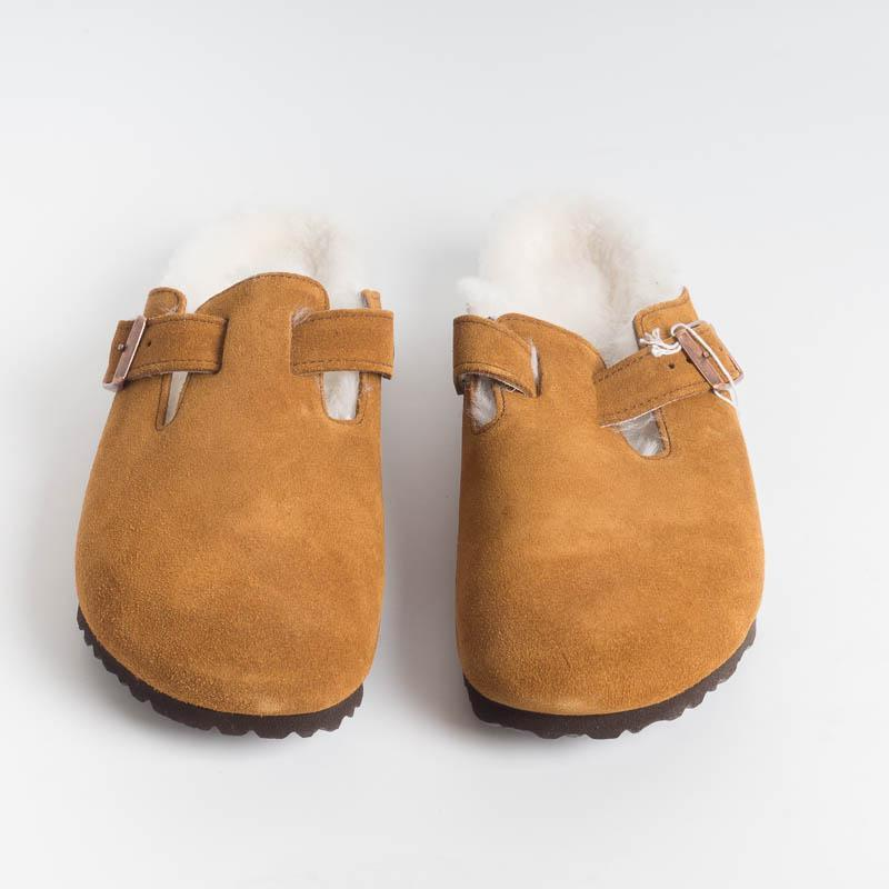 BIRKENSTOCK - 1001141- BOSTON FUR - Mink Men's Shoes BIRKENSTOCK