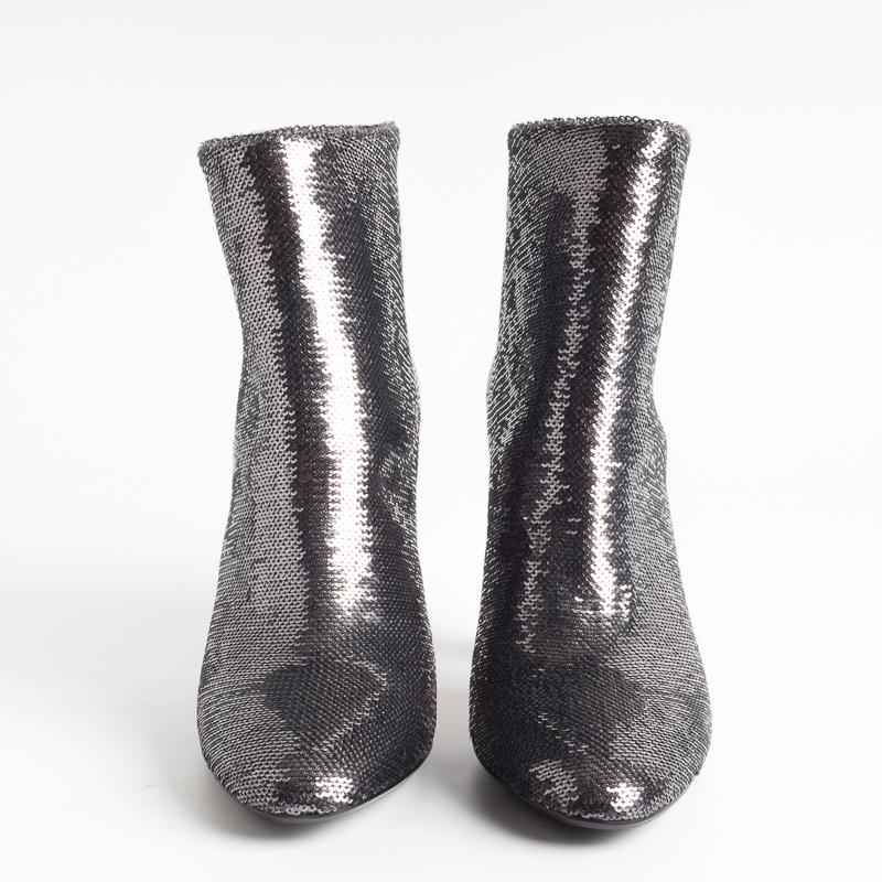 ANNA F. - Ankle boot - 9519 - Gunmetal Women's Shoes Anna F.