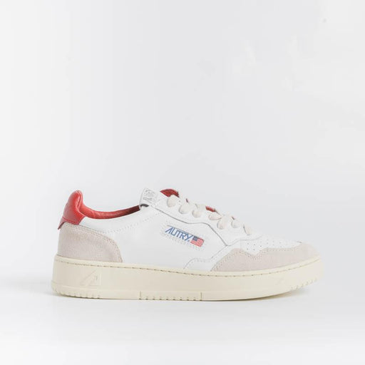 AUTRY LS38 - LOW WOM ALL LEAT/SUEDE - Bianco/Rosso Scarpe Donna AUTRY - Collezione donna