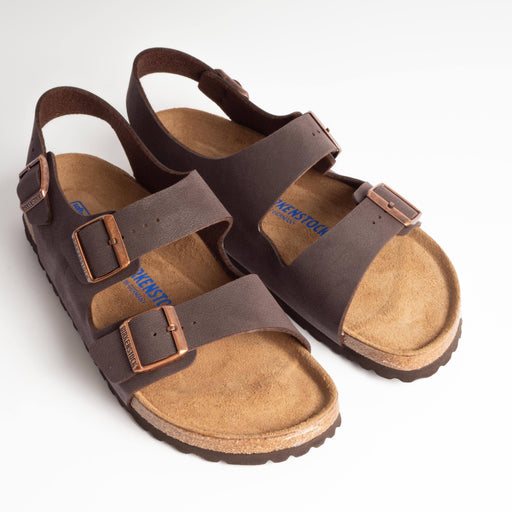 BIRKENSTOCK - Milano BS - Brushed Havana Men's Shoes BIRKENSTOCK