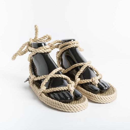NOMADIC STATE OF MIND - Roman Solid Gold Sandals