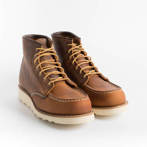 RED WING SHOES - 3428 Moc Toe - Copper Rough Shoes Woman Red Wing Shoes