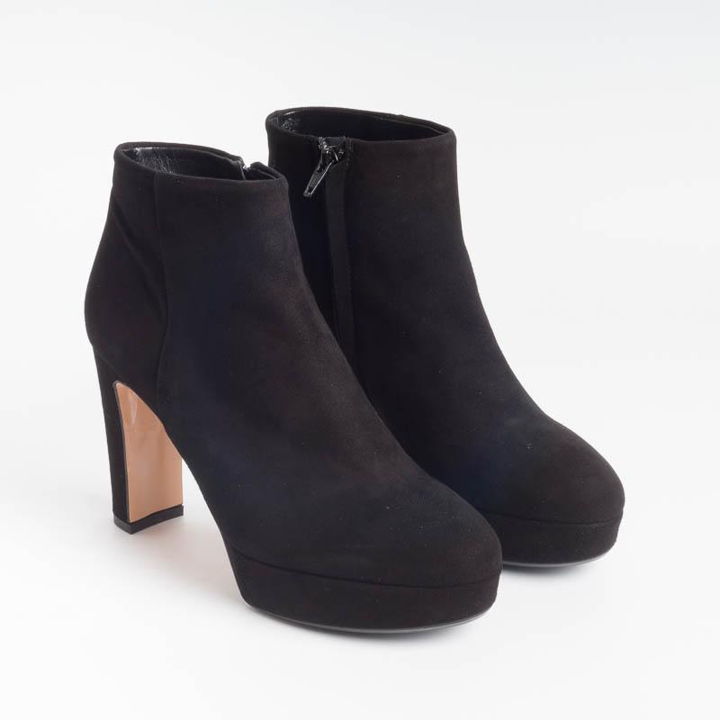 ANNA F - Ankle boot - 9572 - Black Suede Shoes Woman Anna F.