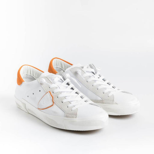 PHILIPPE MODEL - PRLU VX21 - ParisX - Bianco Orange Scarpe Uomo Philippe Model Paris