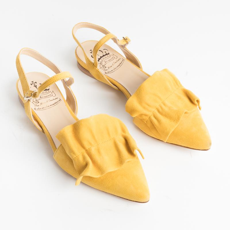 L'ARIANNA - SS2019 - Sandals - CH2017 - Seville - Suede Yellow L'Arianna women's shoes