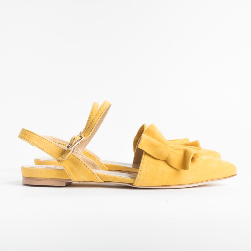 L'ARIANNA - SS2019 - Sandals - CH2017 - Siviglia - Yellow Suede Shoes Woman L'Arianna
