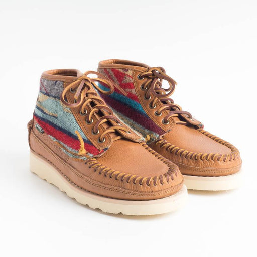 SEBAGO - Seneca Mid Tumbled Pendleton - 7002PL0 - Brown Tangarnet Men's Sebago Shoes
