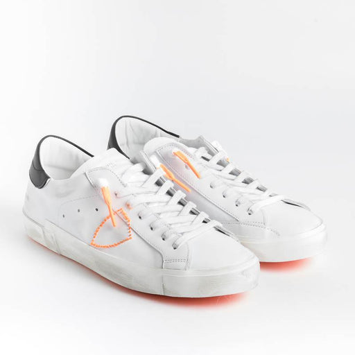 PHILIPPE MODEL - PRLU VBF2 - ParisX - Bianco Arancio Fluo Scarpe Uomo Philippe Model Paris