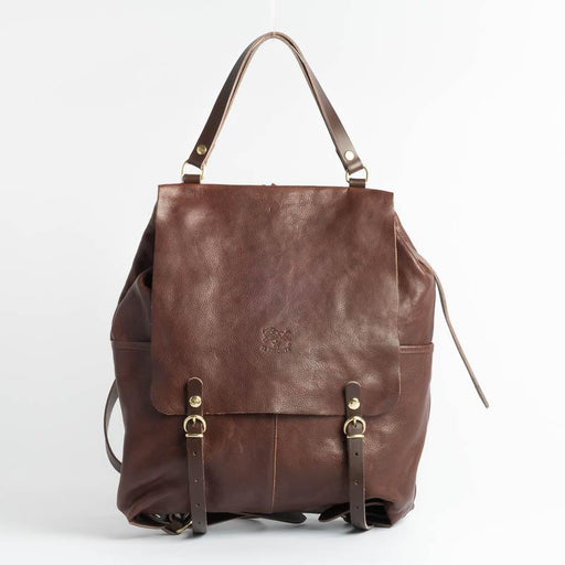 IL BISONTE - Continuativo - A2326 - Backpack - Dark brown Bags Il Bisonte