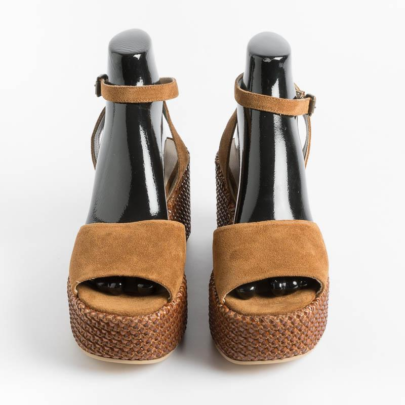 STRATEGIA - Wedge Sandals A496 - Espresso Shoes Woman Strategy