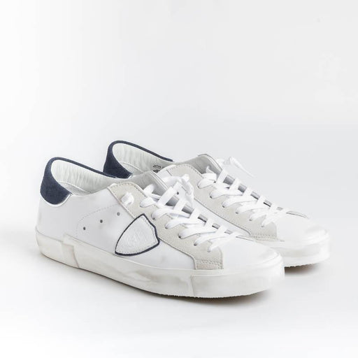 PHILIPPE MODEL - PRLU VX22 - ParisX - Bianco Blu Scarpe Uomo Philippe Model Paris